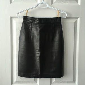 Vintage Daniel leather pencil skirt
